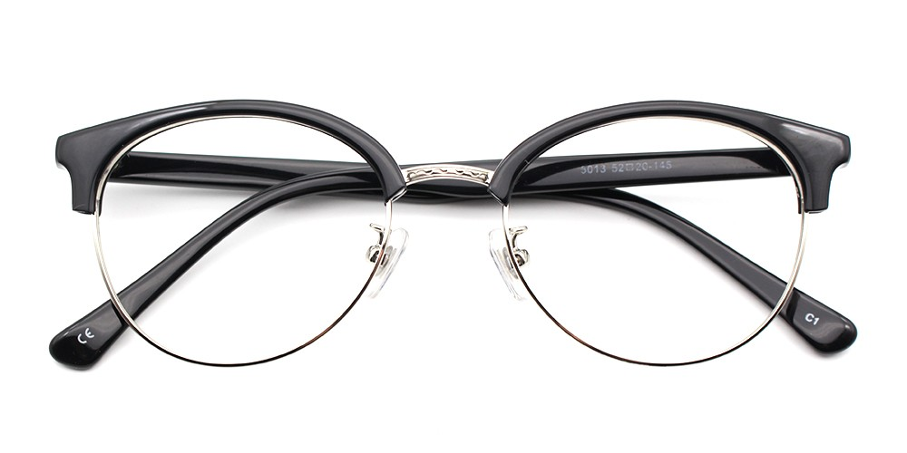 FG5013 BLACK round, wayfarer eyeglasses from GlassesShop.net